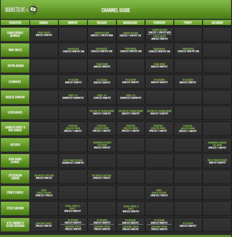 IML TV Schedule 170925